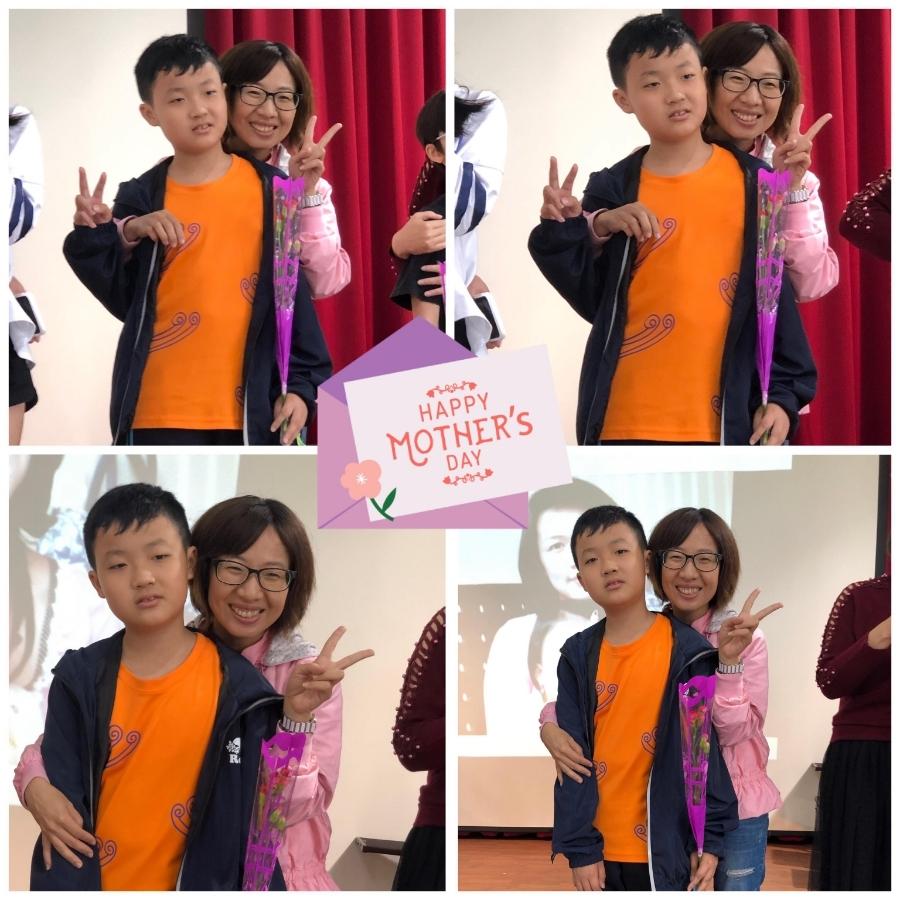 寶貝小六畢業前的母親節慶祝大會~謝謝仁美國小