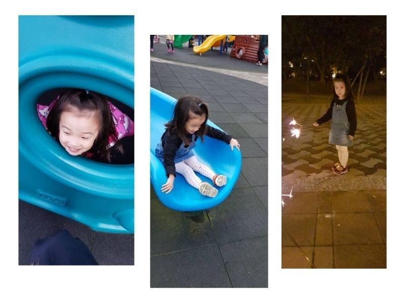 帶3歲的孩子到大型遊樂園,真的不如帶去公園。 之前帶去日本環球影城,妞一點FU~都沒有,唯一最開心的就是現場音樂很歡樂。 台灣去過小人國,玩過幾個設施後,媽媽覺得不如去公園玩溜滑梯她還比較開心。 今天一早我們帶她去家裡附近公園玩,晚上跟親戚見面吃完飯再到公園玩仙女棒,過年的公園大家都在放煙火,帶著孩子看煙火也是她童年不同體驗吧!! #親子旅遊