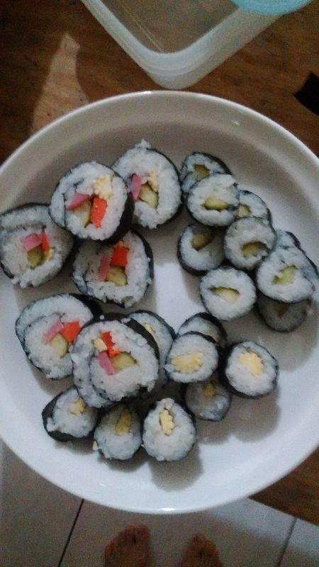 省錢秘訣就是減少外食~想吃壽司自己捲,好吃衛生又便宜^^ #省錢