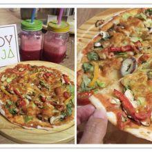 (台中午茶生活節)很棒的蔬食餐廳推薦大人小孩來JOY HOJA一起動手做親子披薩DIY