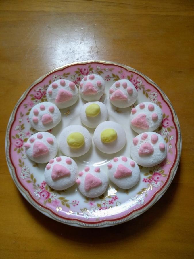 貓掌與雞蛋 棉花糖
