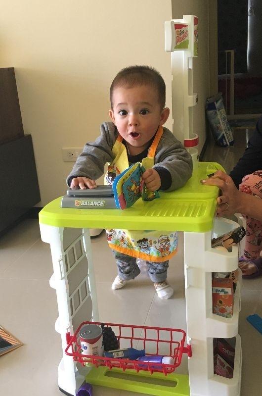 Raphael, 你開心的笑容是爸比媽咪化解辛勞的泉源! #爸爸去哪兒