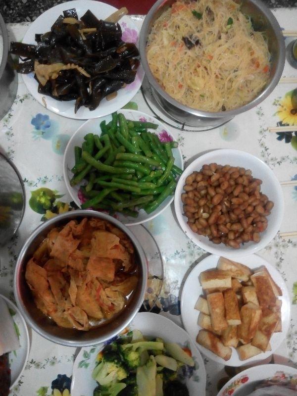 除夕拜拜,婆家吃素,拜祖先吃素菜 #年菜 #年菜