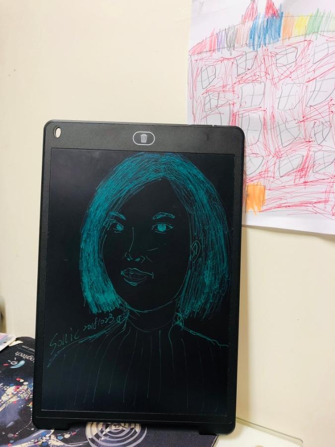 「液晶電子紙手寫板」,教孩子繪圖的好物