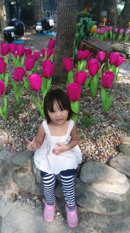 毬毬,妳開心的笑容是爸比媽咪化解辛勞的泉源。 #爸爸去哪兒