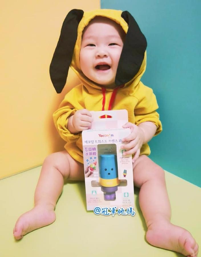 【育兒好物推薦】韓國Pomier朴蜜兒朋友旋轉水果棒,寶寶輕輕鬆鬆吃水果,營養均衡好開心!
