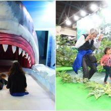 「變變變!MOVE生物體驗展」 親子體驗雙冠蜥水上輕功、滑進鯊魚巨嘴溜滑梯!