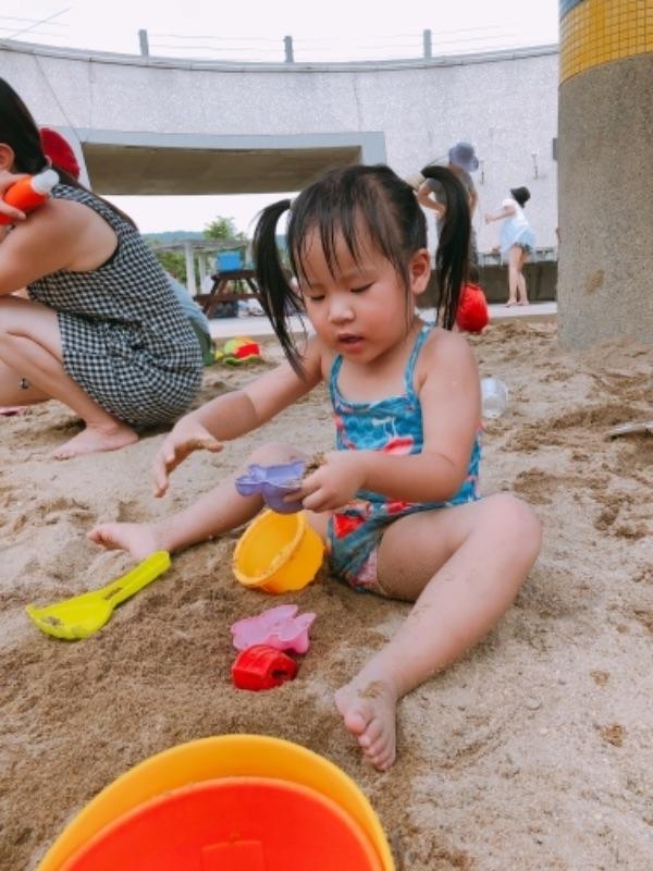 鶯歌陶瓷博物館 玩沙玩水趣❤️ 免費又可以沖澡 離阿婆壽司約10-12分鐘路程 玩好還可以吃阿婆壽司 超讚的❤️ #暑假生活