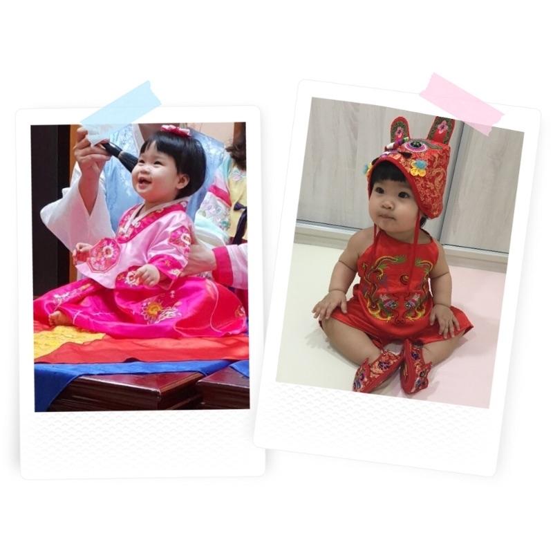 寶貝滿周歲了🎉 體驗了韓服抓周,也體驗了古禮抓周 不論妳抓到什麼,媽咪都希望妳健康平安,快樂長大,周歲生日快樂🎂 #韓式中式各有特色 #抓周里程碑小圖太可愛了 #萌娃