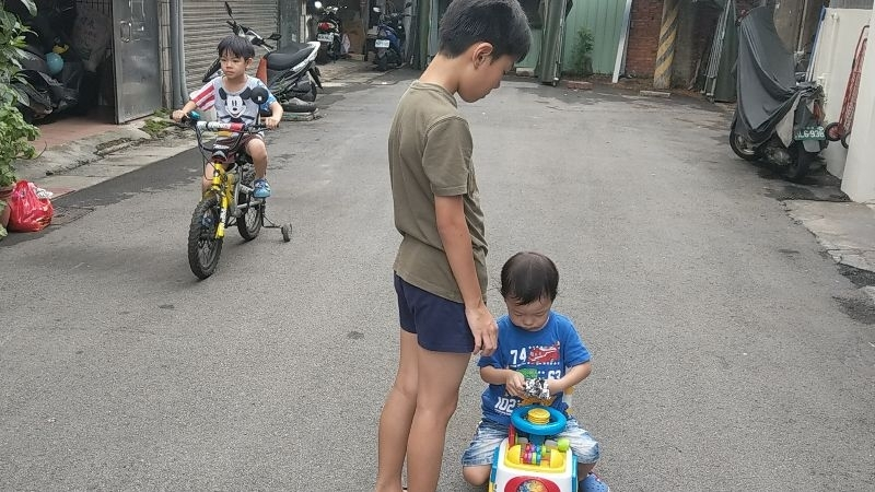 颱風過境後, 運動消耗電力😊