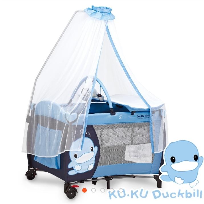 酷咕鴨遊戲嬰兒床,商品9成新,只有使用2個月,限面交取貨(台中彰化皆可)喜歡可私訊我