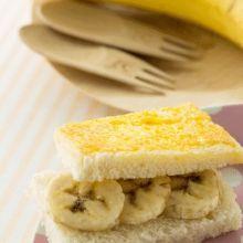 寶寶腸胃順暢食譜 香煎香蕉吐司