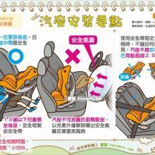 汽車座椅安全守則 圖解看懂裝置建議