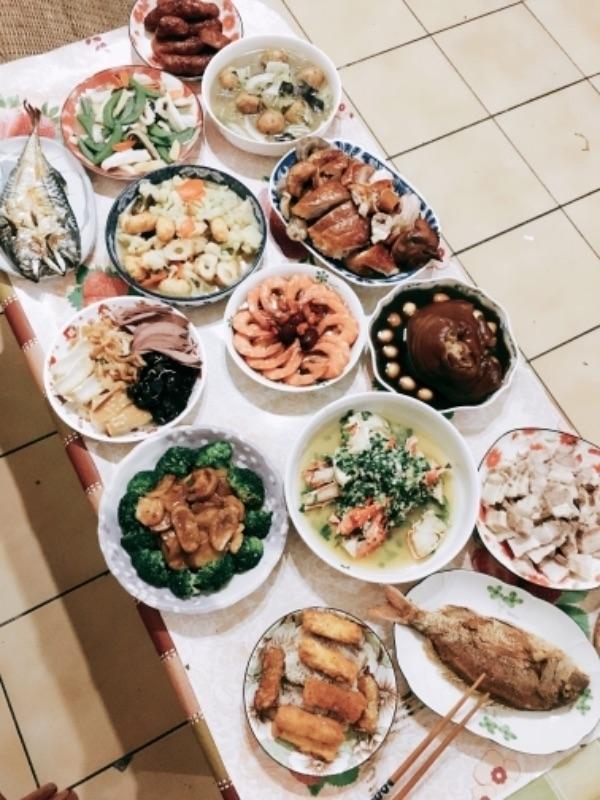 除夕夜就是要吃好吃滿😳 #年菜 #減肥什麼的過完年再說吧