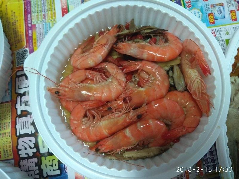 年夜菜之一,大蝦子(流口水ing) #年菜