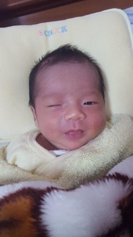 #新生兒報到 小寶貝歡迎你~看到你可愛的小臉蛋~一切都值得了